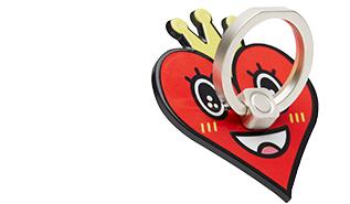 スマートフォンリングセットBUNKER RING Art Collaboration<br>Heart Special Edition